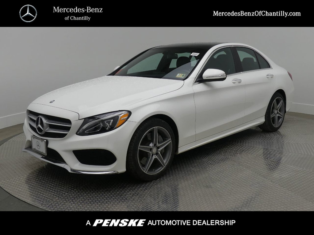 Certified pre owned 2015 mercedes benz c class c 300 sport for Mercedes benz chantilly